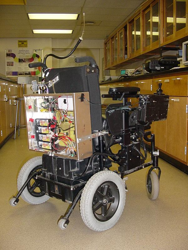 Wheelchair with electronics for eye control
